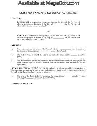 Alberta Commercial Lease Forms | Legal Forms and Business ...