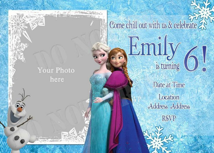 Best 25+ Frozen birthday invitations ideas on Pinterest | Frozen ...