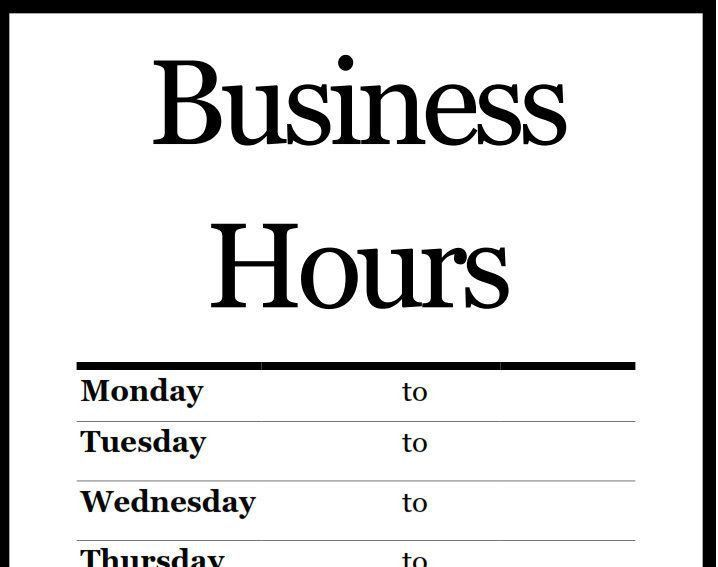 25+ best Business hours sign ideas on Pinterest | Business signs ...