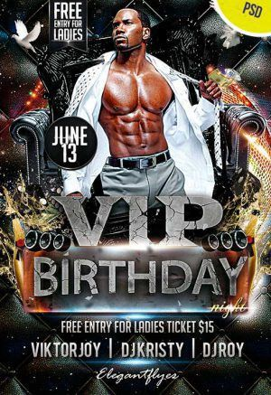 Free Birthday PSD Flyers - FlyerShitter.com
