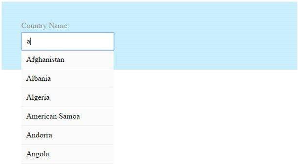 jQuery AJAX Autocomplete – Country Example | maxcreationsinc | Web ...