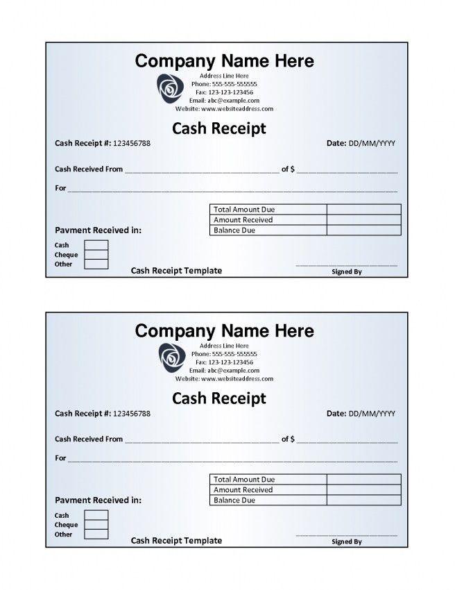 Cash Invoice Template Doc | Design Invoice Template