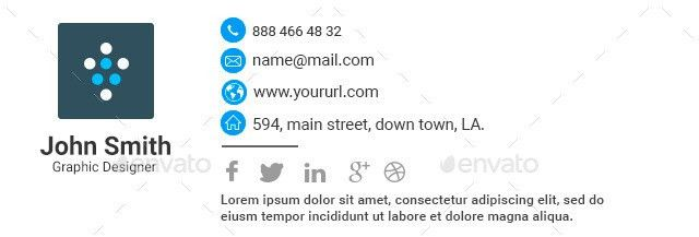 10 Email Signature Templates - HTML Files Included by doto ...