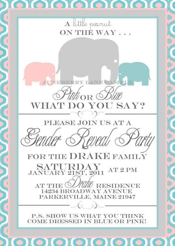 Gender Reveal Party Invitation Wording | badbrya.com