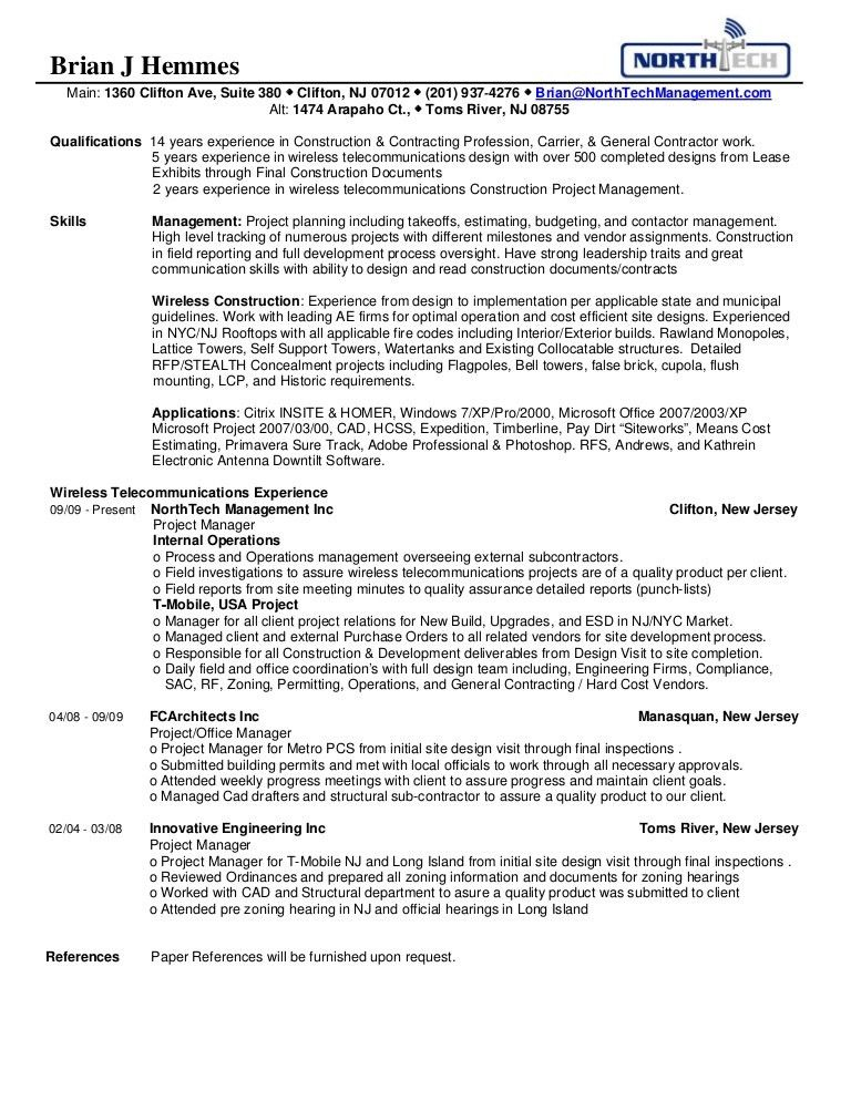 NorthTech Management Brian's Resume