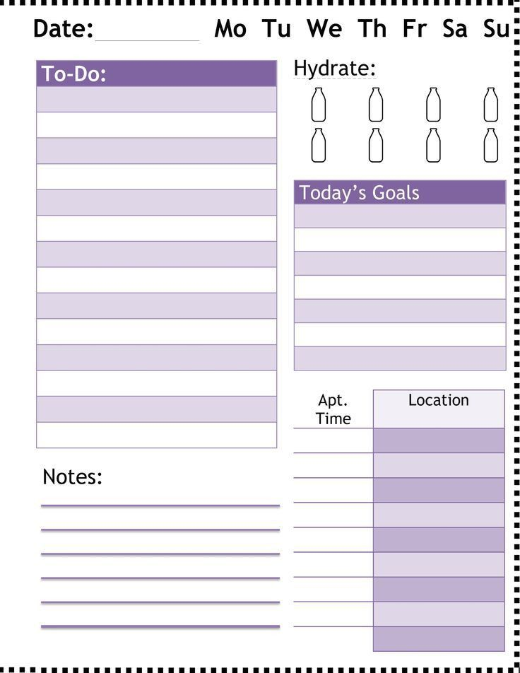 110 best Daily/weekly planners images on Pinterest | Planner ideas ...