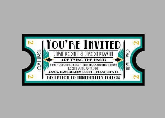 32 best Birthday invite images on Pinterest | Ticket invitation ...