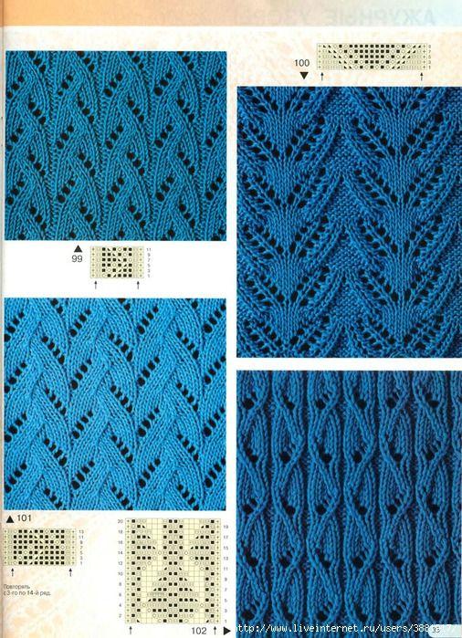 Новые красивые ажурные узоры вязания