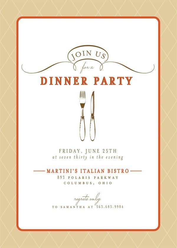 Dinner Party Invitations | christmanista.com