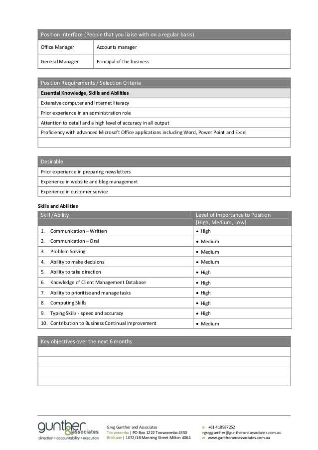 Employee Job Description Template - Contegri.com
