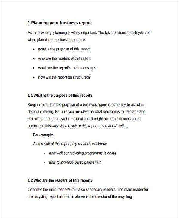 Sample Professional Report Template - 8+ Free Documents Download ...