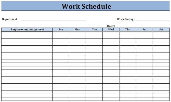 Weekly Work Schedule Template. best 25 weekly dinner planner ideas ...