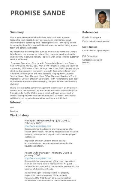 Housekeeping Resume. Sample Resume Hotel Housekeeping Job ...