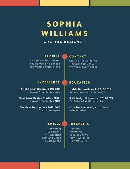 Blue Colorful Simple Modern Resume - Templates by Canva