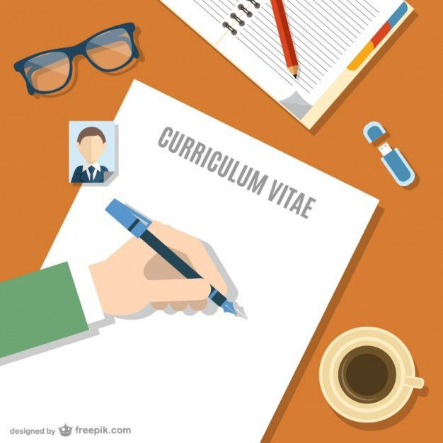 Writing your curriculum vitae Vector | Free Download