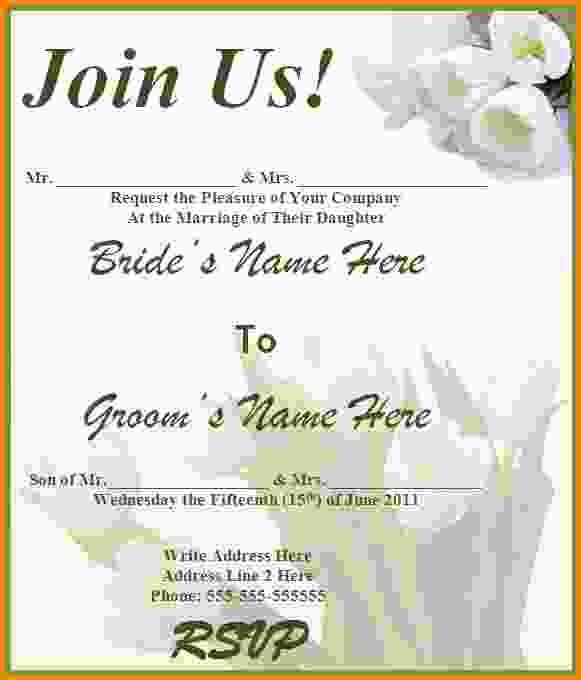 10+ wedding invitations templates word | Letter Template Word