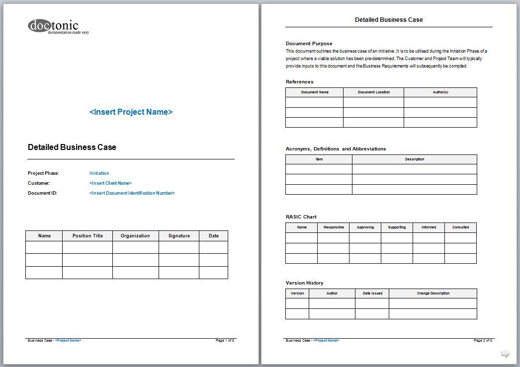 Business Case Template | tristarhomecareinc