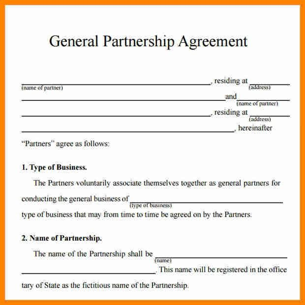 9+ business partnership contract template | job resumed
