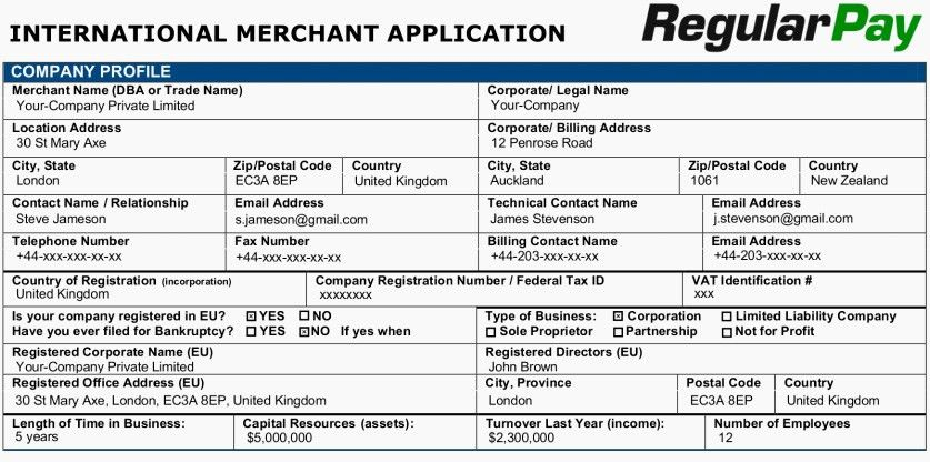 Step-by-step guide for opening merchant account on RegularPay