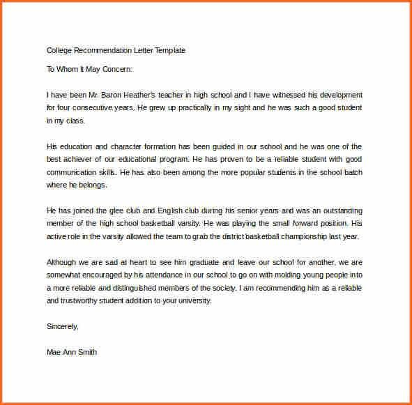4+ word letter of recommendation template - Budget Template Letter
