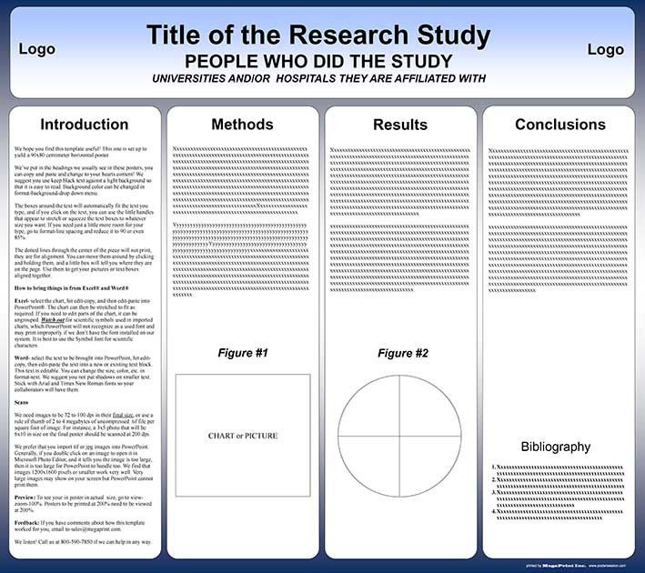 template for paper presentation free powerpoint scientific ...