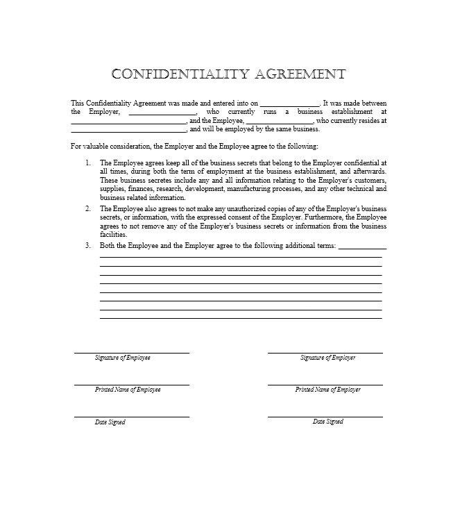 Confidentiality Statement. Developing A Questionnaire Business .