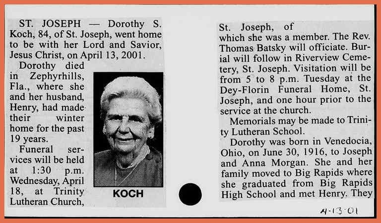 example of an obituary | bio example