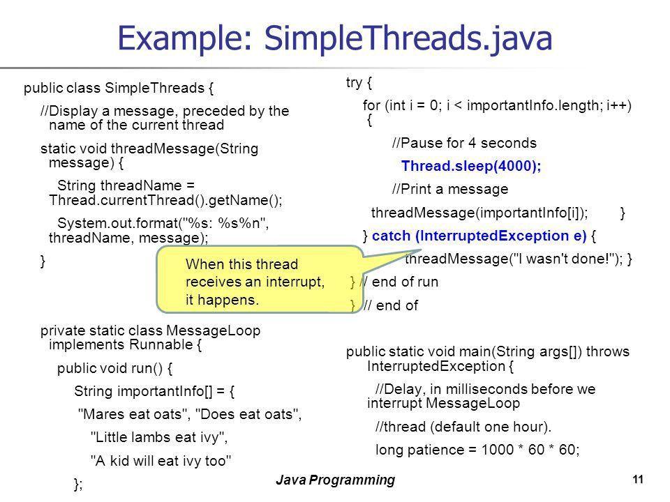 1 Java Programming Java Programming II Concurrent Programming ...
