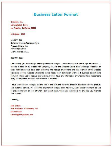 Standard Business Letter Format. 5+ Business Proposal Letter To ...