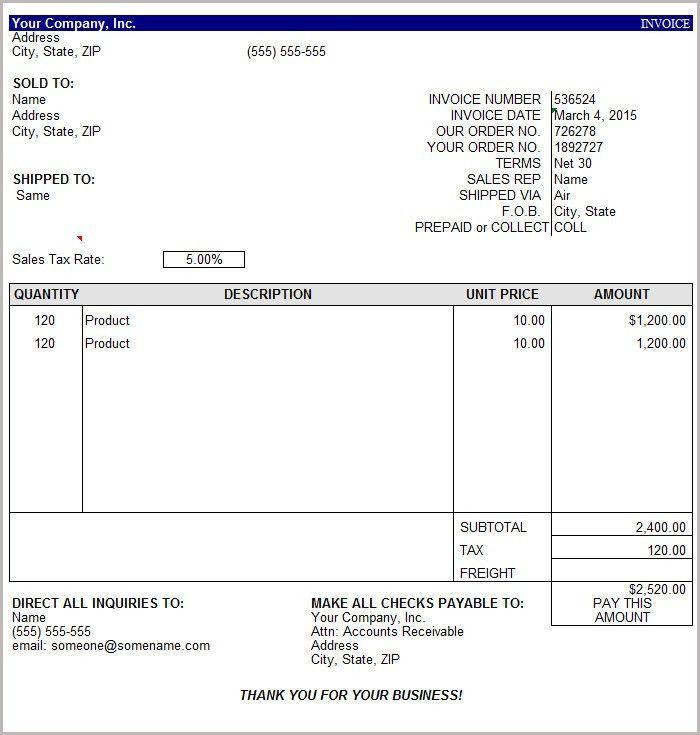 16+ Free Basic Invoice Templates | Free & Premium Templates
