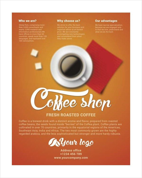 19+ Coffee Shop Flyer Templates - Free PSD, AI, Vector, EPS Format ...