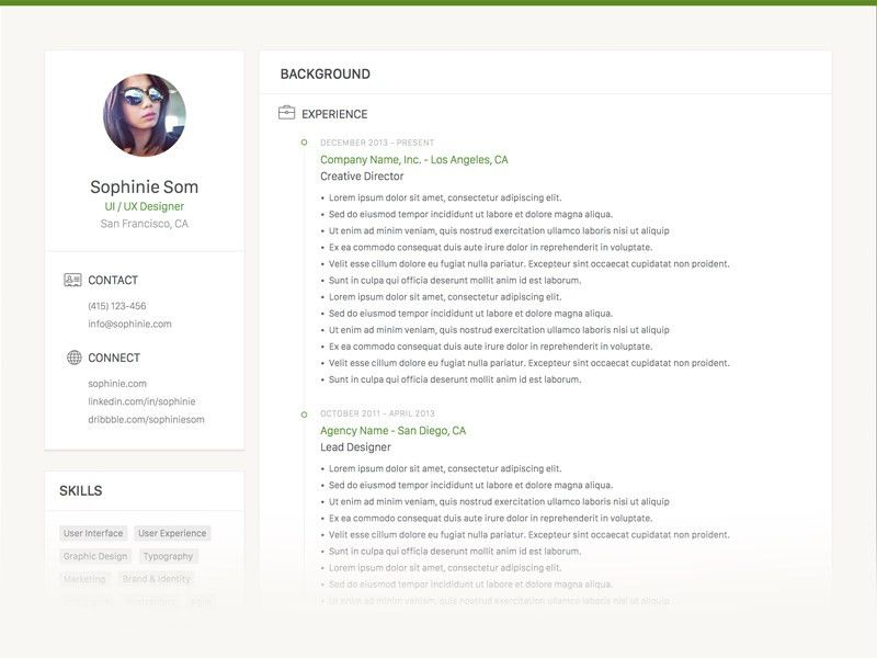 Clean Resume Template Sketch freebie - Download free resource for ...