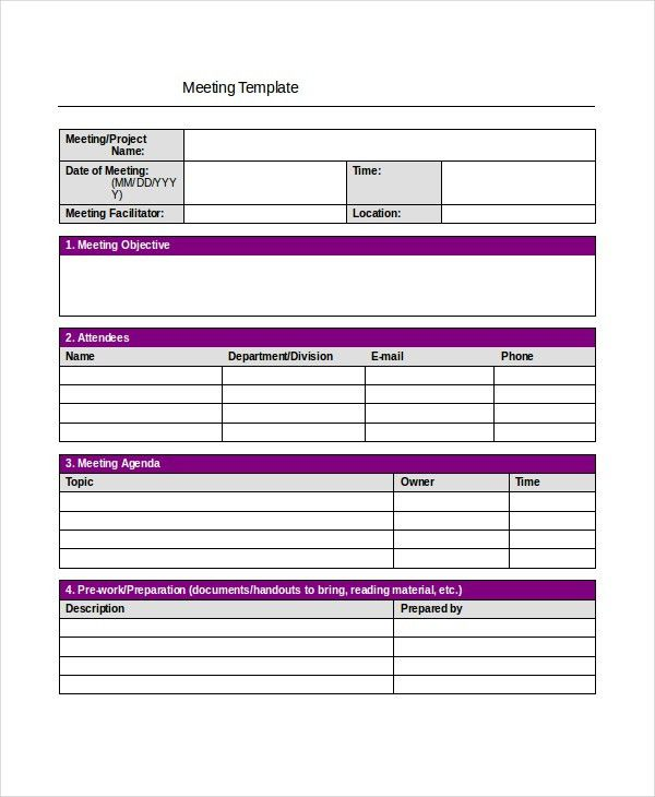 Meeting Minutes Template - 13+ Free Word, PDF, PSD Documents ...
