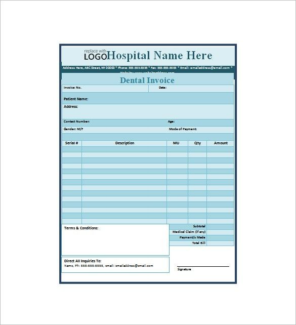 Dental Receipt Template – 7+ Free Sample, Example, Format Download ...