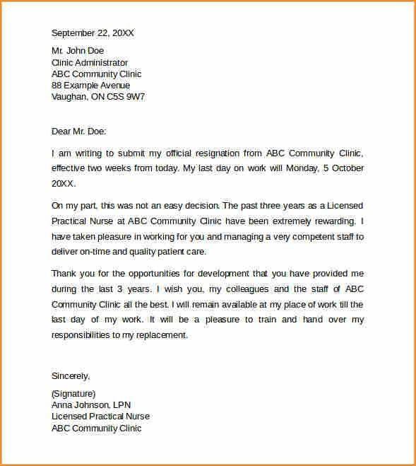 7+ 2 week notice letter nursing - Basic Job Appication Letter