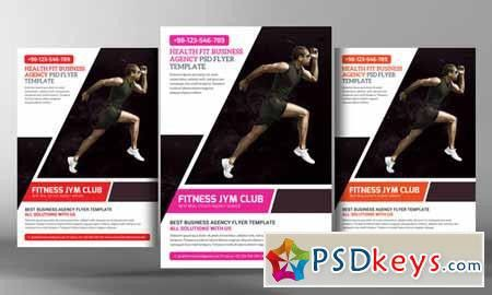Fitness Gym Flyer Template 269305 » Free Download Photoshop Vector ...