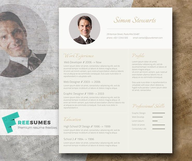 Subtle Gold – An Elegant Freebie CV Template