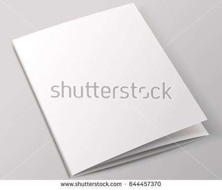 Blank Brochure Template Vector Illustration Stock Vector 644457358 ...
