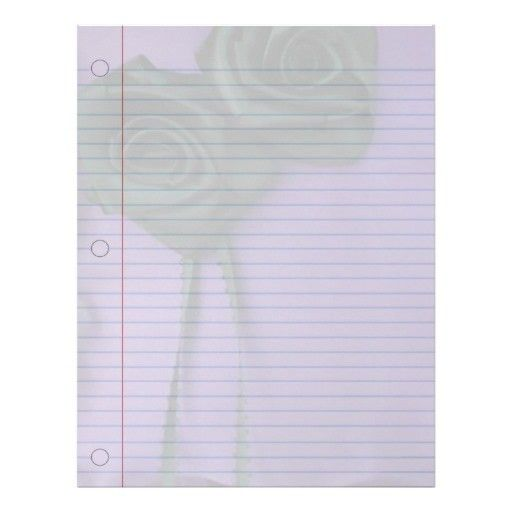 Black Roses Goth Notebook Paper Letterhead Template | Discover ...