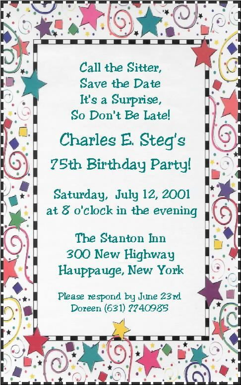 Birthday Party Invitation Email Sample Efficient | neabux.com