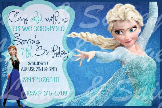 Frozen Birthday Invitation | christmanista.com