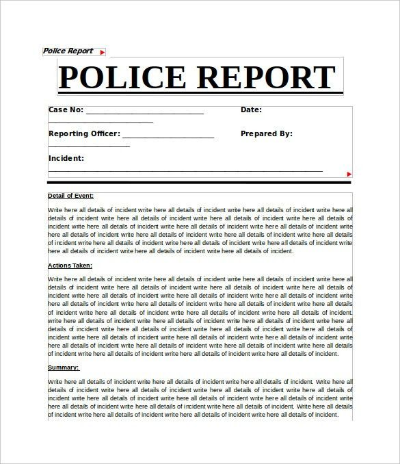 Sample Crime Report - 11+ Documents in PDF, Word