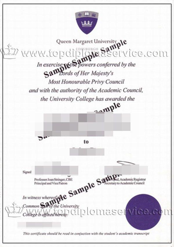 buy a degree UK, buy Queen Margaret University diploma cert_buy ...