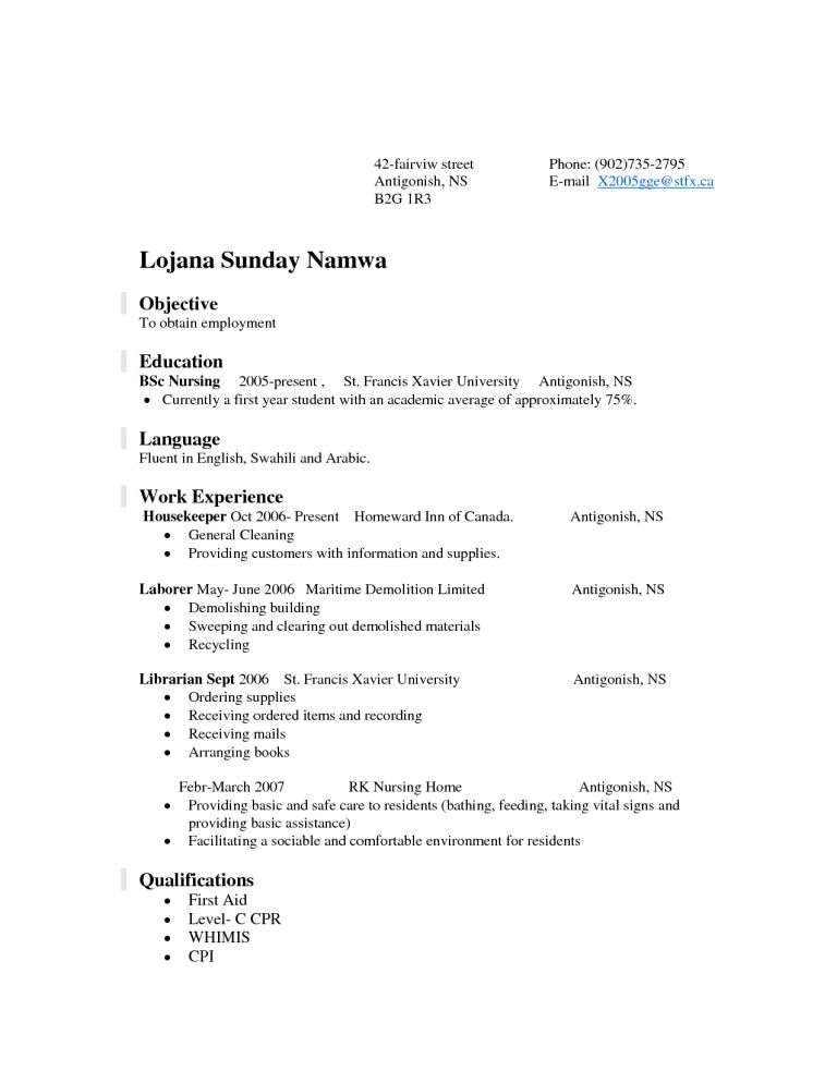 Amazing Work Experience Resume 2 Resume Examples Student First Job ...