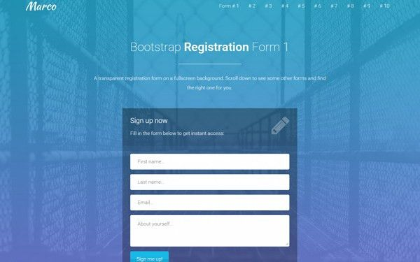 Bootstrap Login and Register Forms in One Page | AZMIND