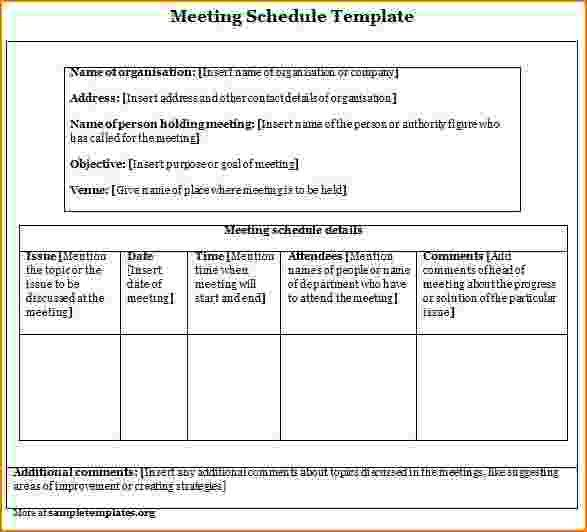 3+ meeting schedule template | teknoswitch