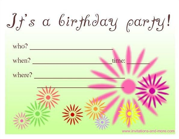Free Birthday Invitations - plumegiant.Com