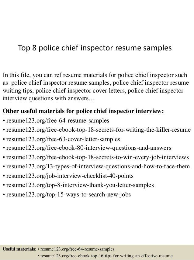 police chief resume examples chief of police resume samples