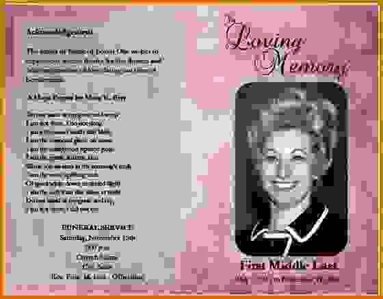 8+ obituary template freeReference Letters Words | Reference ...