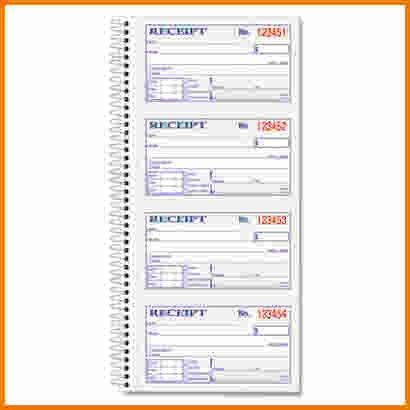 6+ receipt book template | Expense Report